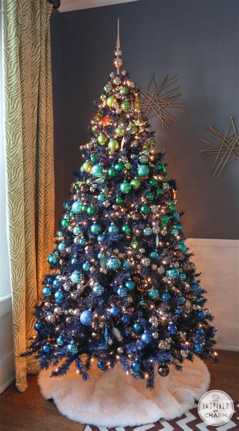 navy blue cheistmas dcorations treetopia design council 2014 presents michael wurm jr treetopia