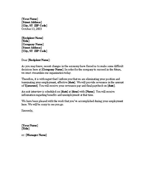 thank you letter after layoff notice of layoff letter template professional letters