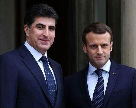 emmanuel macron kurdistan nechirvan barzani meets with french president emmanuel