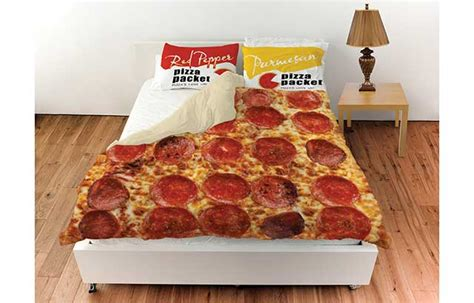 pepperoni pizza duvet bedding cover at what on earth