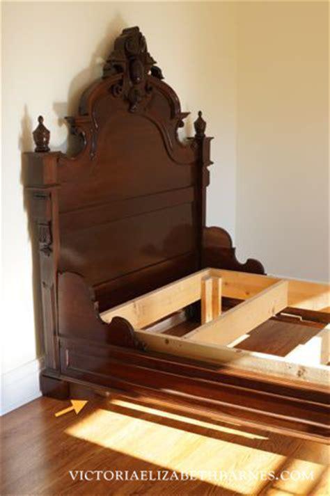Wooden Bed Frame Craigslist Retrofitting Our Craigslist Bed Diy Custom Antique Bed