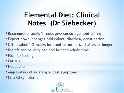 Elemental Diet Detox by Sibo Webinar 2015 Advances In The Treatment And