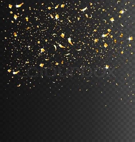 Glamour Home Decor by Festive Celebration Golden Confetti On Transparent Dark