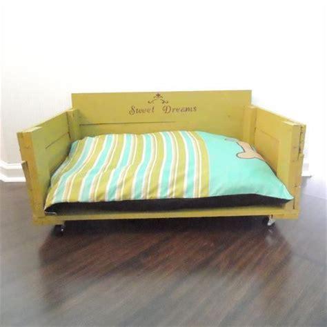 diy dog sofa diy reclaimed wooden pallet dog bed plans pallets designs