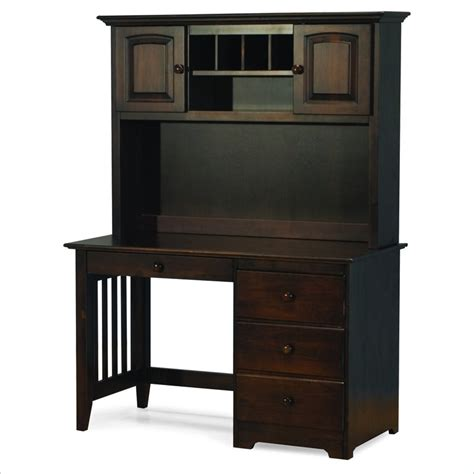 Wood Computer Desk With Hutch Atlantic Furniture Wood Computer Desk With Hutch 8010x Pkg
