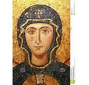 Virgin Mary Mosaic At Hagia Sophia Stock Photo  Image