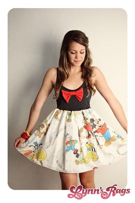 Dress Mickey Black disney mickey mouse band tank dress black bow