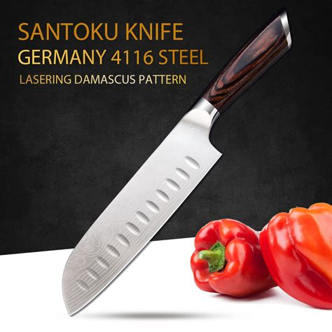 u timhome brand 6 quot inch kitchen chef parking ceramic knife stainless steel knife 7inch chef knives kitchen santoku