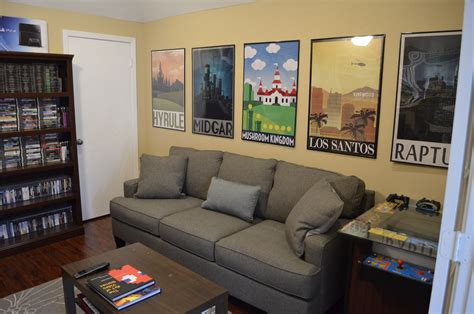 posters for rooms great posters lining the wall of this gaming room gaming rooms and setups room