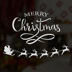 merry christmas window sign craftstar merry window stencil word typography sign template ebay