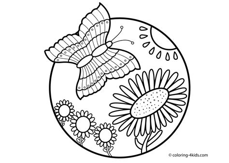 easy nature coloring page nature coloring pages easy coloring pages