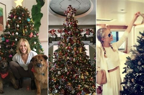celebrity instagram christmas see 2015 s gorgeous celebrity christmas trees zimbio