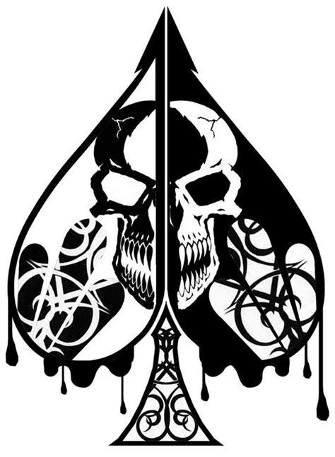 skull spade tattoo designs spade of by velarian set the world a