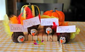 thanksgiving craft turkey place card holders from cool with a side of crafty