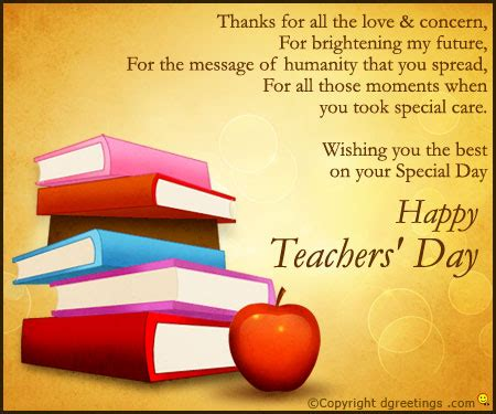 Thank You Letter For Teachers Day Thanks For All The Condern Teachers Day Thank You Cards