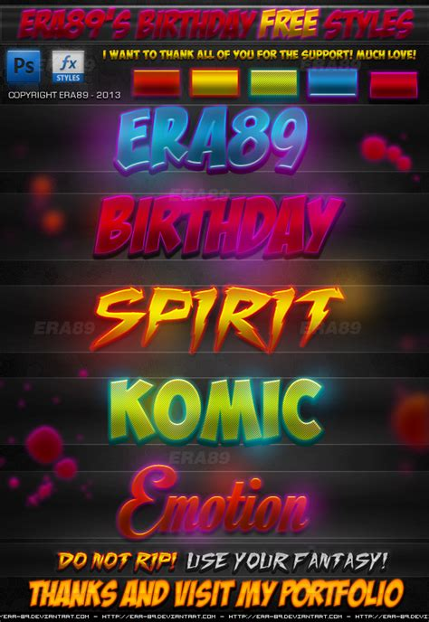 Find S Birthdays Free Era89 S Birthday Free Photoshop Styles By Koolgfx On Deviantart