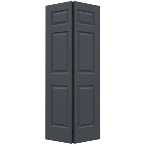 6 Panel Bifold Closet Door Shop Reliabilt No Frame 6 Panel Hollow Smooth Molded Composite Bifold Closet Door Common