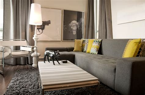 Yellow And Grey Chair Design Ideas Modern Decor Gray Walls Just Decorate