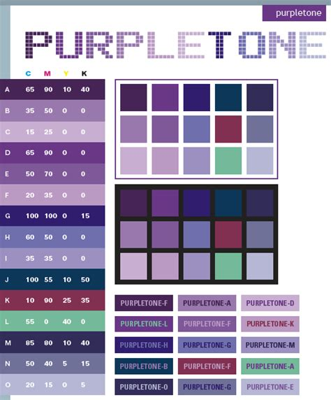 colors that go with purple purple tone color schemes color combinations color palettes for print cmyk and web rgb html