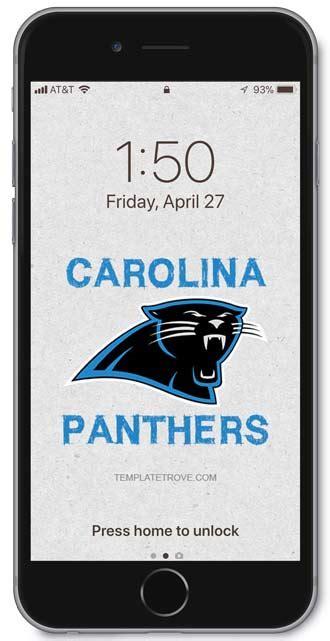 carolina panthers lock screen schedule  iphone