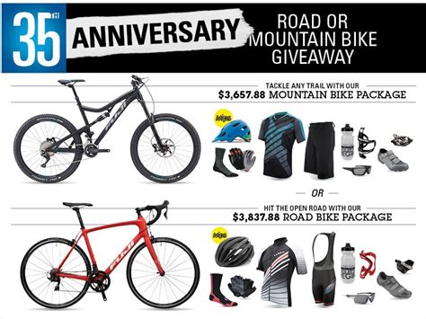 Mountain Bike Sweepstakes - performance bicycle 35th anniversary road or mountain bike giveaway sweepstakes