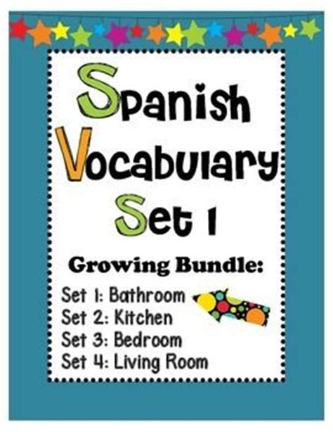 spanish word for bathroom sink spanish vocabulary set 1 bathroom vocabulary included