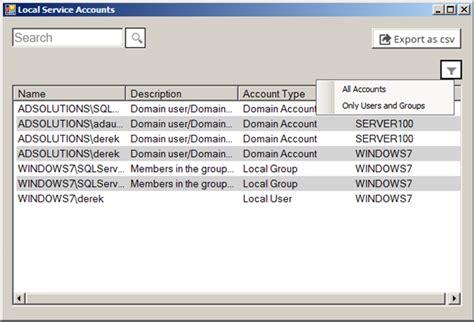 figure finder windows service account finder and reporter manageengine