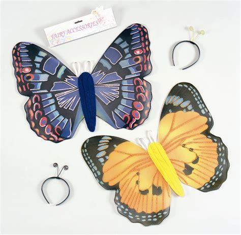 Instan Butterfly instant butterfly costumeinstant butterfly costume wings headband antennae blue yellow