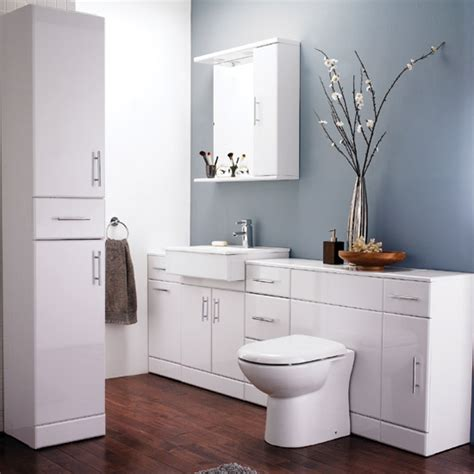 bathroom suites with vanity unit alaska high gloss white 7 piece vanity unit bathroom suite