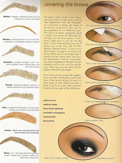 guys guide to seeing women not objects beauty redefined eyebrow covering and drawing tutorial cosplay blog with