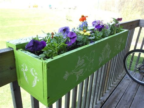 planters for deck rails deck rail planter box plans home design ideas
