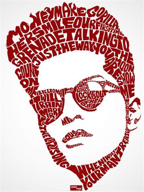typography portrait typography portraits of song lyrics