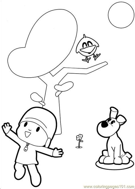 pocoyo coloring pages pdf coloring pages pocoyo 06 cartoons gt others free