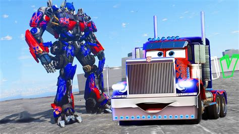 mod gta 5 transformers gta v truck optimus prime in battle mode gta 5