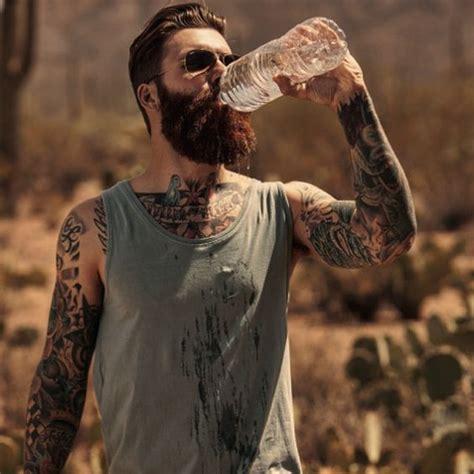 red beard tattoo levi stocke in the desert thick beard