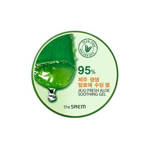 Jeju Fresh Aloe Vera Soothing Gel 300 Ml the saem jeju fresh aloe soothing gel 99 300ml free gifts