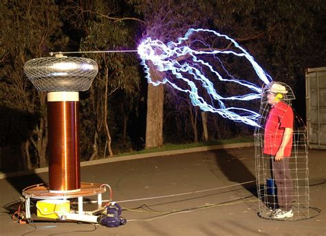tesla coil emps and faraday cages
