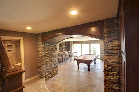 basement remodel home theater bar farmhouse