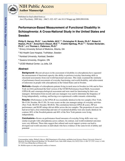 performance based measurement of pdf available