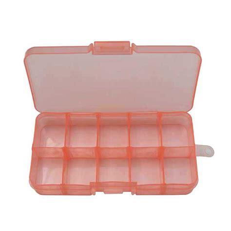 Mini Storage Box mini storage box 10 compartments orange craft hobby