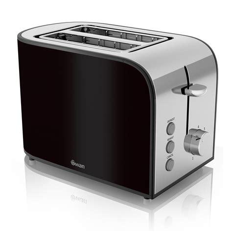 Black Chrome Toaster Swan St17020blkn 2 Slice Townhouse Toaster In Black Chrome