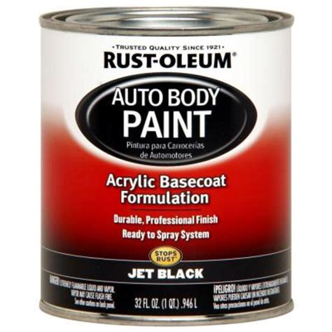 home depot car touch up paint rust oleum automotive 1 qt auto jet black paint