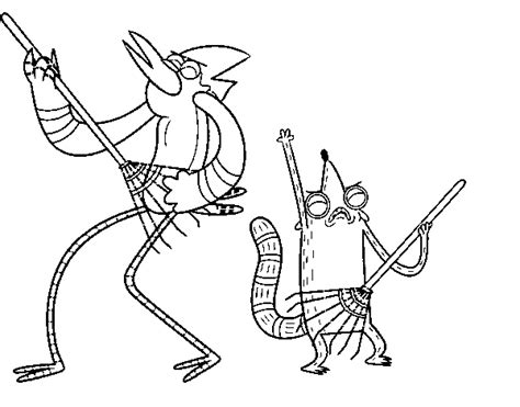 mordecai and rigby coloring pages free coloring pages of rigby from regular show