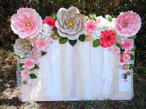 Wedding Backdrop With Paper Flowers by Easy Paper Flower Backdrop Assembly Abbi Kirsten Collections