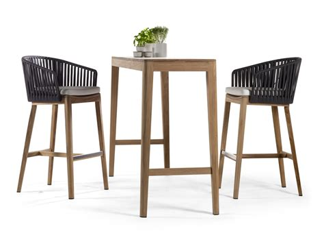 contemporary outdoor bar stools tribu mood garden bar stool tribu outdoor furniture at