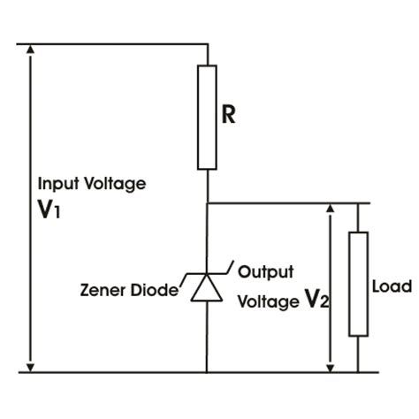 circuit diagram for zener diode as voltage regulator application of zener diode