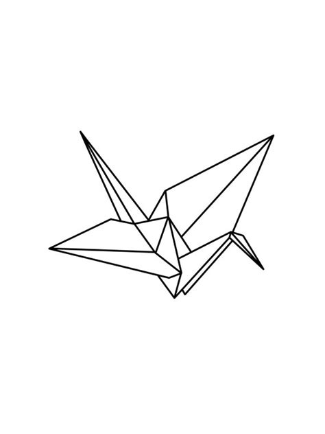 Origami Bird Drawing - origami crane drawing www imgkid the image kid has it