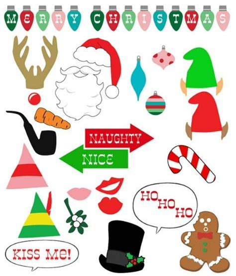 printable photo booth props christmas the top 20 holiday photo booth printable prop sets