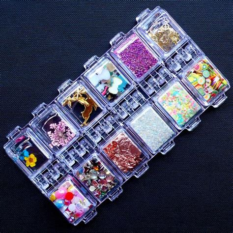 Hk Ribbon Set Ppd0042 kawaii uv resin craft kit deluxe set including open bezels pig miniaturesweet kawaii