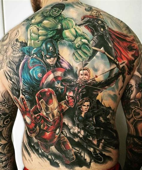 tattoo girl from heroes avengers tattoo visit to grab an amazing super hero